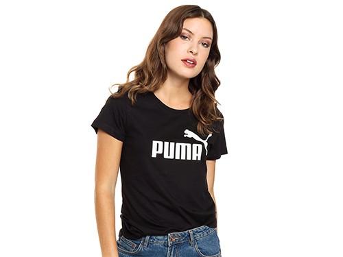Remera Negra Puma Ess Logo