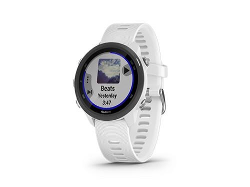 Reloj GPS Running Forerunner 245 Música Malla Blanca Garmin