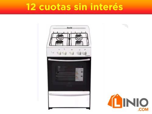 Cocinas escorial master multigas. Blanca 56 cm.autolimpiante master