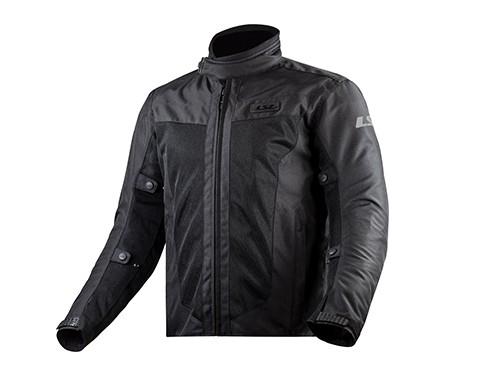 Campera Moto Hombre Cordura Protecciones Predator Negra LS2