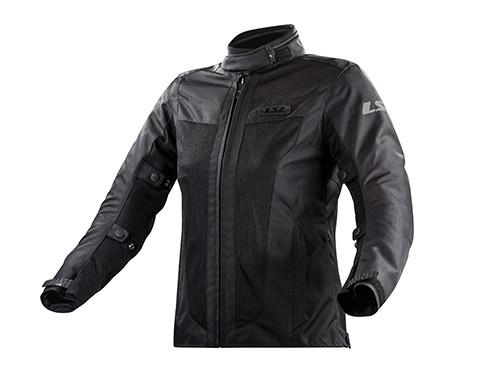 Campera Moto Mujer Cordura Protecciones Predator Negra LS2