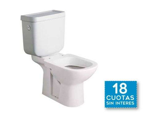 Inodoro Largo Deposito Apoyo Descarga Ferrum Bari Baño 65cm