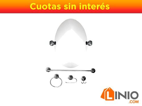 Kit de accesorios de baño x 5 piezas de acero inoxidable