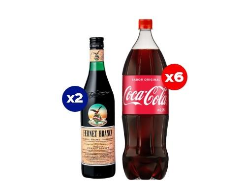 6 Coca-Cola 2,25 Lt + 2 Fernet Branca 750cc (CBA, ROS, MDZ)