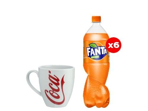 6 Fanta 1,5 Lt + Taza Coca-Cola (CBA, ROS, MDZ)
