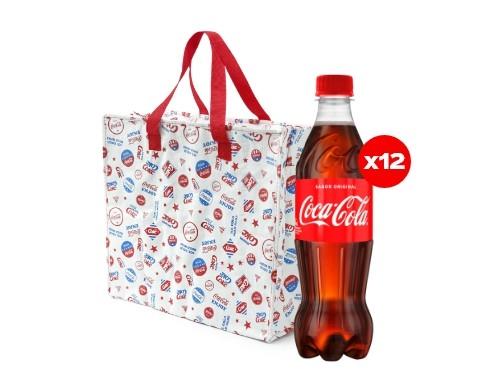 12 Coca-Cola 500 mL + Bolsa Térmica Coca-Cola (CBA, ROS, MDZ)