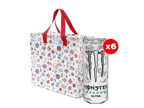 6 Monster Ultra 473 mL + Bolsa Térmica Coca-Cola (CBA, ROS, MDZ)