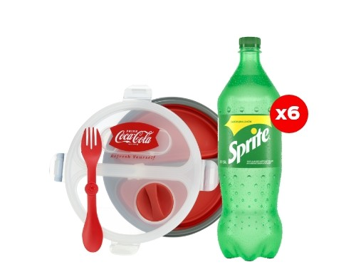6 Sprite 1,5 Lt + Tupper Coca-Cola (CBA, ROS, MDZ)