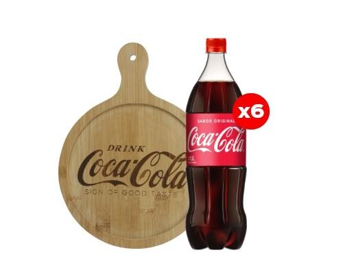 6 Coca-Cola 1,5 Lt + Tabla de picada Coca-Cola (CBA, ROS, MDZ)