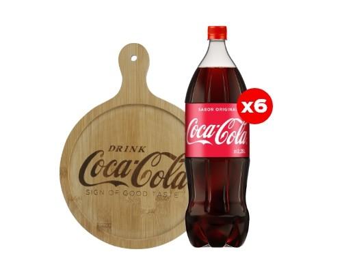 6 Coca-Cola 2,25 Lt + Tabla de picada Coca-Cola (CBA, ROS, MDZ)
