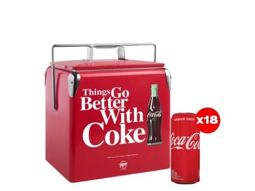 18 Coca-Cola 310 mL + Cooler Coca-Cola (CBA, ROS, MDZ)