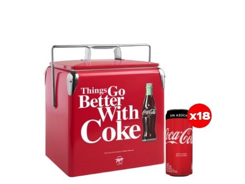 18 Coca-Cola Sin Azúcar 310 mL + Cooler Coca-Cola (CBA, ROS, MDZ)