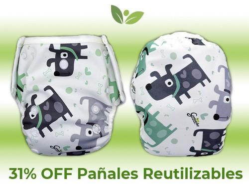 Pañal Reutilizable - PACK 2 (unitalla hasta 20kg) - Grinnibe