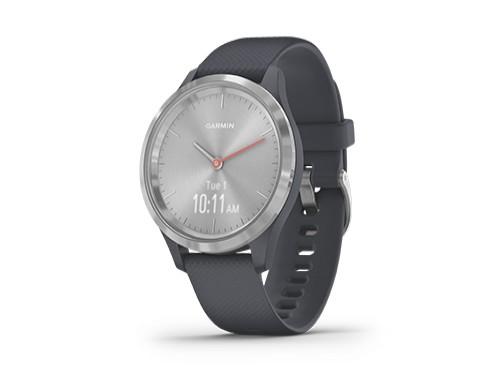 Reloj Pulsometro Vivomove 3s Plateado con Malla Azul Garmin