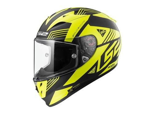 Casco Moto Integral 323 Arrow R Neon Negro Amarillo LS2