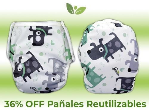 Pañal Reutilizable - PACK 7 (Unitalla hasta 20kg) - Grinnibe