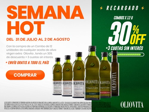 Aceite de Oliva Virgen Extra Arbequina Combo 12 x 500 ml. Oliovita