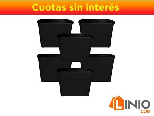 COMBO 5 CONTENEDORES ECO BOX-80LTS + 1 DE REGALO