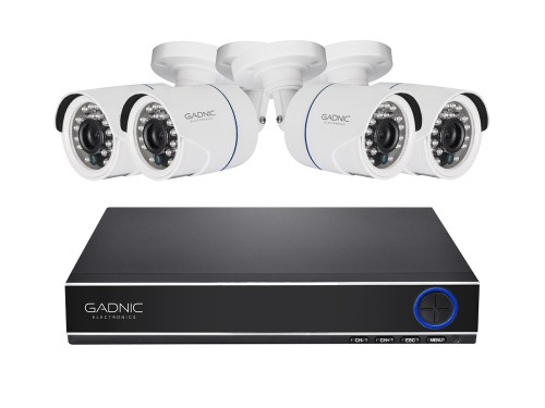 Kit GADNIC DVR Full HD para 8 Cámaras + 4 Cámaras + 1TB