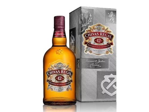 Whisky Chivas Regal 12 Años Escocés Botella 1 L + Estuche