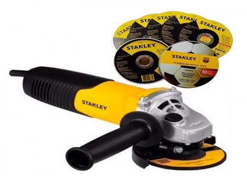 Amoladora Angular Stanley Stgs7115 710w 115mm + 10 Discos