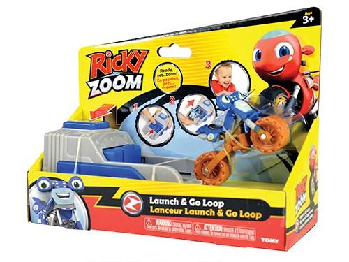 Moto Ricky Zoom Go Loop + Lanzador Figura Personaje