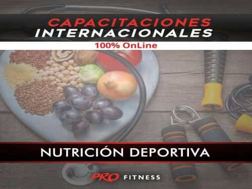 Capacitación OnLine en Nutrición Deportiva 65% OFF