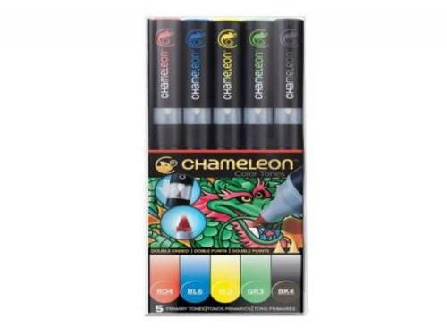 Marcador chameleon set x 5 colores primarios