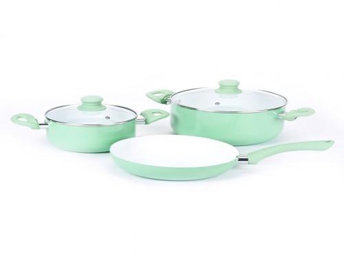 Bateria de cocina 5 piezas Acqua Carol Linea Soft