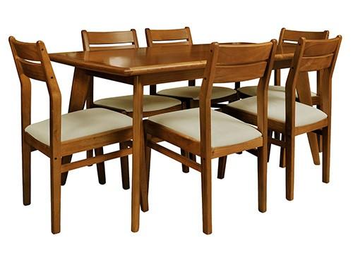 Juego de comedor Docta Caoba mesa + 6 sillas