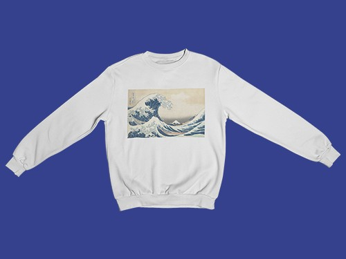 Buzo Unisex Sublimado Wave - La gran ola