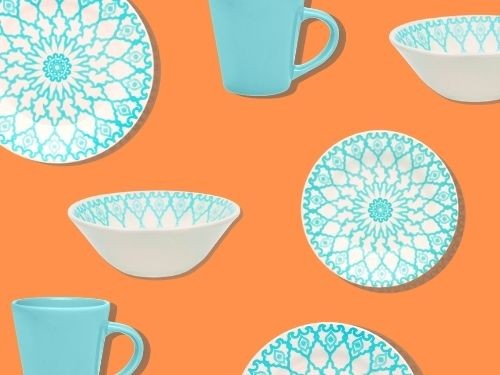 Juego de vajilla de cerámica de 16 piezas Mandala Oxford