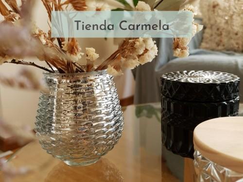 Florero Vidrio Plateado Mercurizado Jarrón Objeto Decorativo Deco