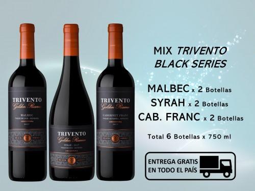 Caja Mix TRIVENTO Black Series: 2 Malbec, 2 Syrah, 2 Cab. Franc