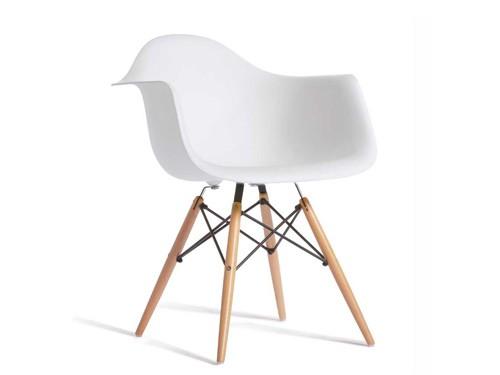Sillon Silla De Diseño Eames Color Blanco Para Living Comedor
