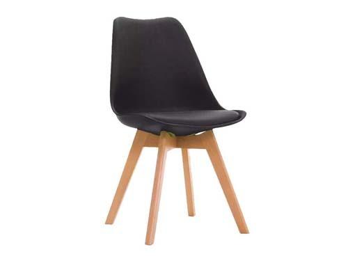 Silla De Diseño Tulip Eames Para Living Comedor Color Blanco Y Negro