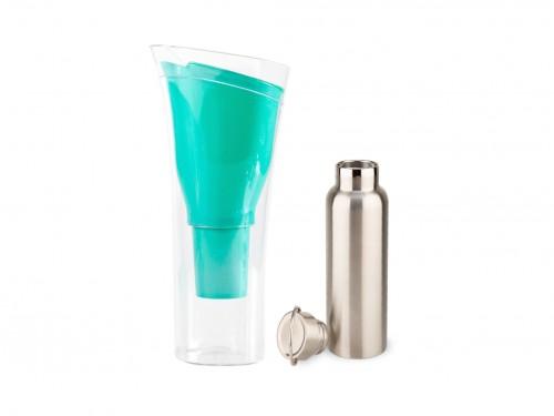 Jarra  Purificadora Verde + Botella Térmica