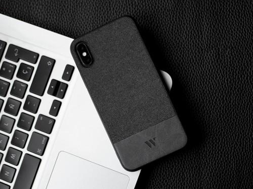 Funda Walden® Tejido & Cuero iPhone 12 11 Pro X Xs Xr Max 7 8 Plus