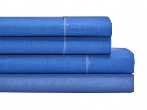 Juego Sabanas Completo Danubio Colors Percal 144 hilos Azul