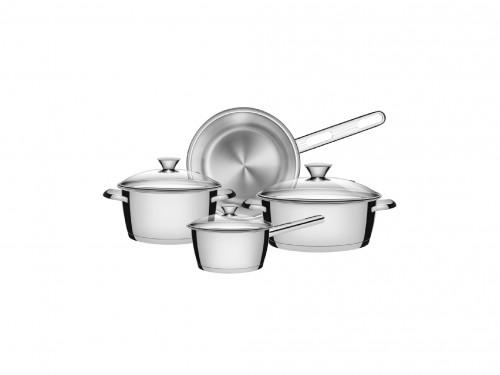 Batería de cocina Allegra de acero inoxidable 4 piezas Tramontina