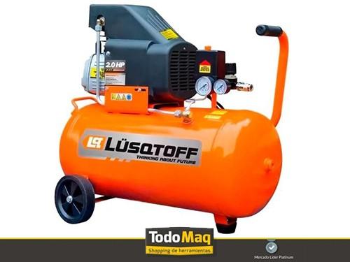 Compresor Lustoff 2 Hp 24lts + Kit 5 Piezas Lusqtoff