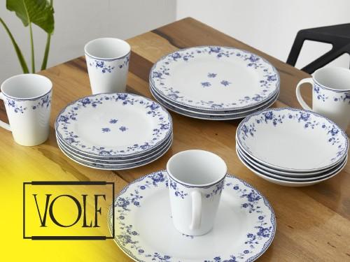 Set de Vajilla 16 Piezas Royal Porcelain VOLF