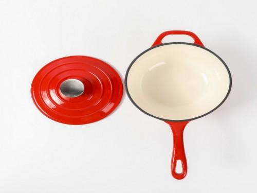 Cacerola Esmaltada Roja con Tapa - 18 cm - VOLF