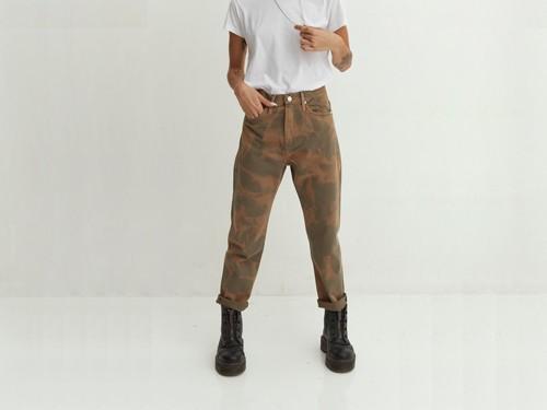 Jean de mujer boyfriend army batik