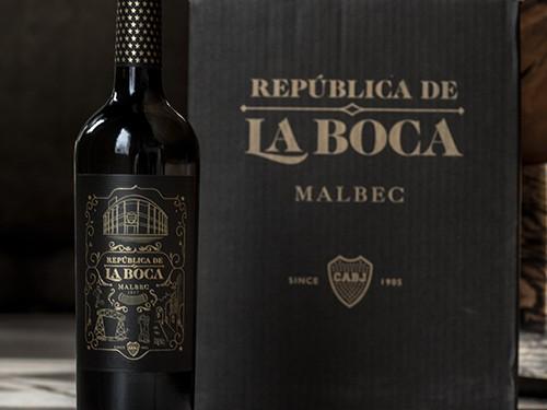 VINO OFICIAL DE BOCA - REPÚBLICA DE LA BOCA MALBEC caja x 6