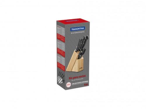 Juego cuchillos Ultracorte Tramontina con soporte de madera 6 piezas