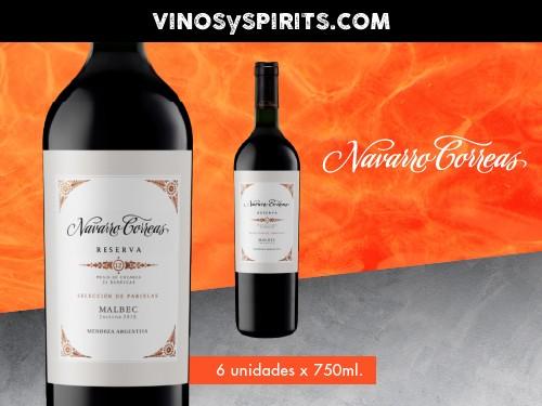 Vino Navarro Correas Reserva Malbec 750ml. - Navarro Correas