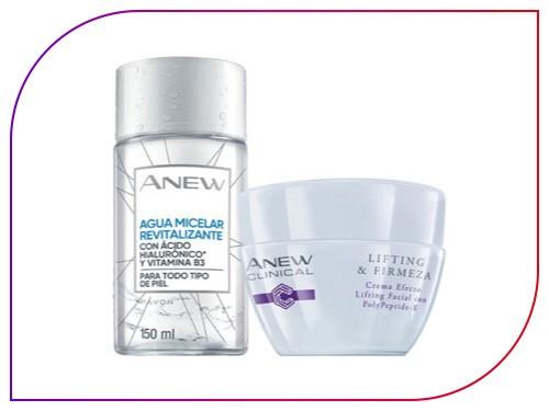 Set X2 Lifting & Firmeza Anew Clinical Avon + agua micelar