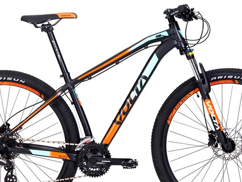 Bicicleta Razz Aluminio Negro/Naranja/Celeste Altus 24vel 29ER M Volta