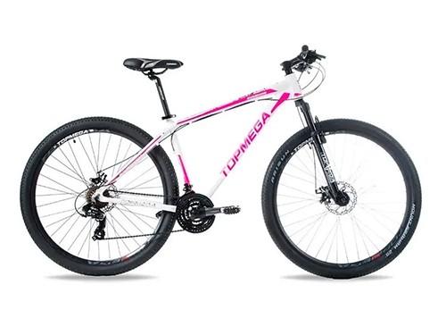 Bicicleta MTB Sunshine R29 21V F. Disco Blanco Rosado M 2020 Top Mega